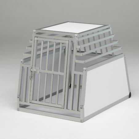 Caisse de transport simple Confort + pour 1 chien - Fabrication française en Alu et PVC