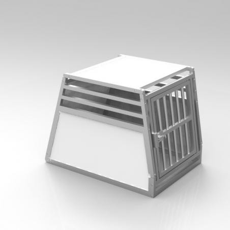 A14A - Caisse de transport simple pour chien - plafond plein et  3 aérations latérales