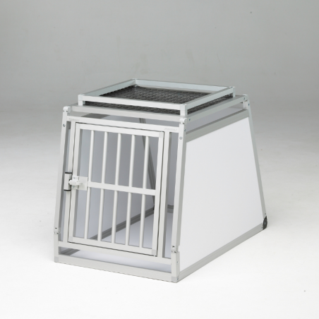 A14A - Caisse de transport simple pour chien - plafond pvc avec galerie basse