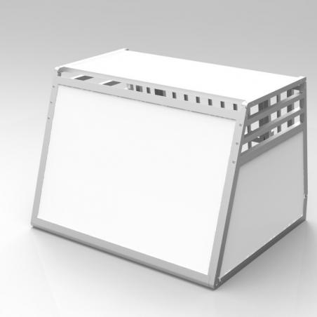 A14B caisse de transport classique Braveur® - simple compartiment large pour 1 ou 2 chiens - Plafond plein pvc - 3 aérations
