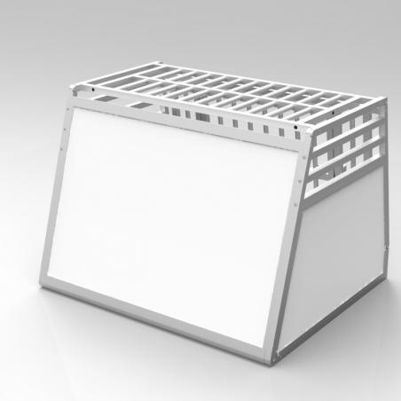 A14B caisse de transport classique Braveur® - simple compartiment large pour 1 ou 2 chiens - Plafond barreaudé alu - 3 aérations