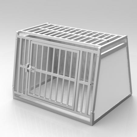 A14B caisse de transport classique Braveur® - simple compartiment large pour 1 ou 2 chiens - Plafond barreaudé alu - 1 aération