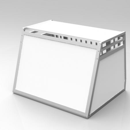 A14B caisse de transport classique Braveur® - simple compartiment large pour 1 ou 2 chiens - Plafond plein pvc - 2 aérations