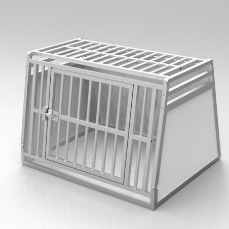 A14B caisse de transport classique Braveur® - simple compartiment large pour 1 ou 2 chiens - Plafond barreaudé alu - 2 aérations