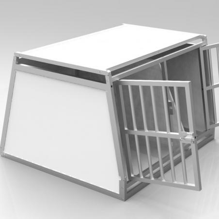 Caisse double avec séparation amovible - plafond plein + 1 aération latérale