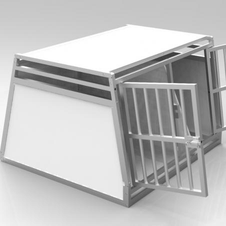 Caisse double avec séparation amovible - plafond plein + 2 aérations latérales