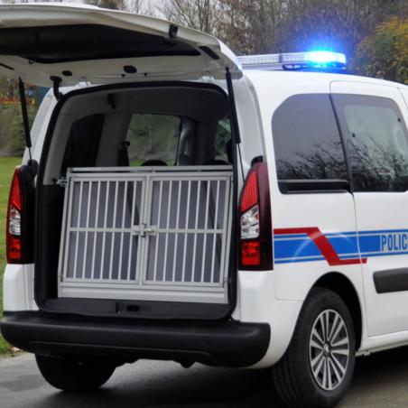 Caisse double Braveur® pour les chien de travail malinois des équipes cynophiles de la gendarmerie / police / douanes