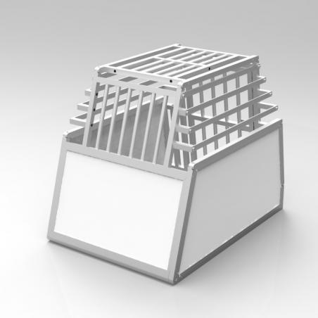 Caisse de transport simple confort + Braveur® - En aluminium anodisé et PVC - Plafond barreaudé