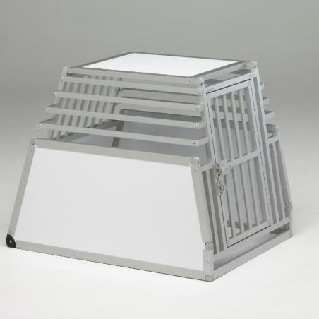 Caisse de transport simple confort + Braveur® - En aluminium anodisé et PVC - Fabriquée aux mesures du coffre