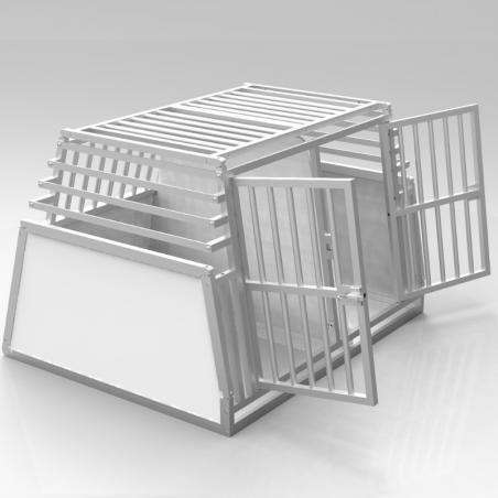 Caisse double confort + plafond et parois biseautées en alu - séparation amovible