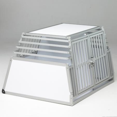 Caisse double confort + plafond plein en PVC et parois biseautées en aluminium