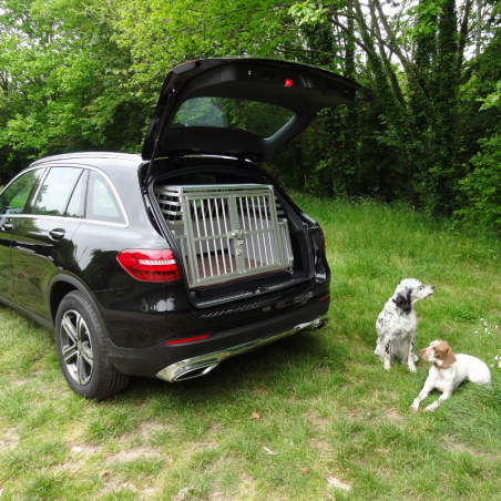Mercedes GLC équipée d'une caisse large confort + pour 2 chiens de chasse