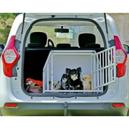DIBARO LARGE - Caisse de transport de Chihuahuas en famille Dacia Sandero - DIBARO par Braveur®