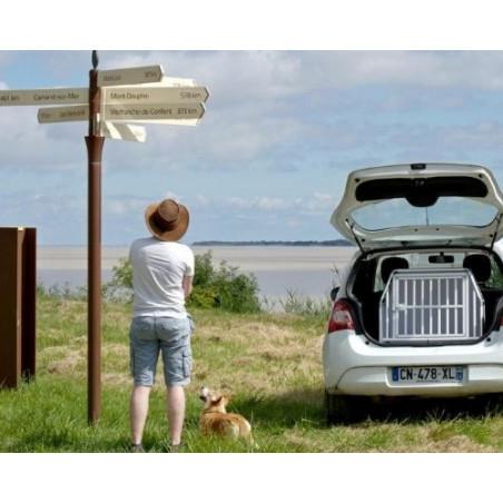DIBARO LARGE - Caisse de transport chien de Taille M Welsh Corgi Twingo