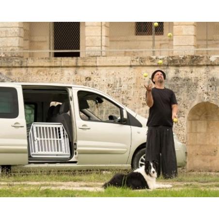 DIBARO LARGE - Caisse de transport positionnée sur la porte latérale d'un Jumpy - DIBARO par Braveur®