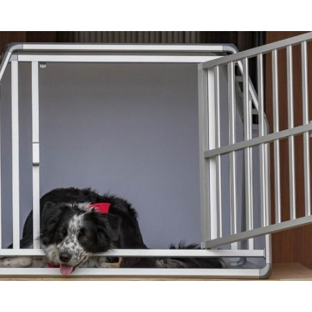 DIBARO LARGE - Caisse de transport pour très grand chien XXL ou 2 chien M/L comme ce Border Collie  - DIBARO par Braveur®