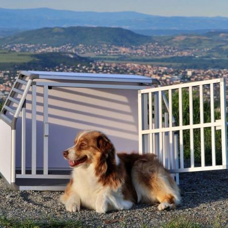 DIBARO LARGE - Caisse de transport pour chien L : Berger Australien - Husky - Setter Anglais SUR-MESURE