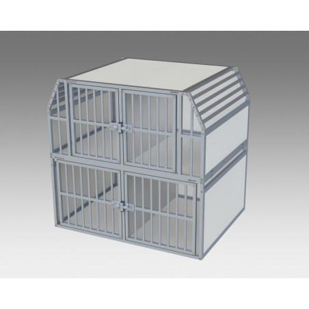 Composition 4 compartiments pour le transport des chiens