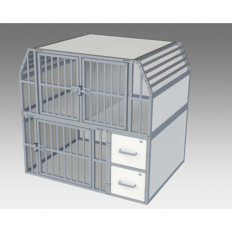 3 compartiments + tiroirs
