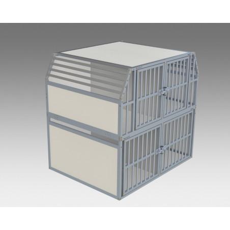 Composition 4 compartiments pour le transport des chiens dans un véhicule utilitaire
