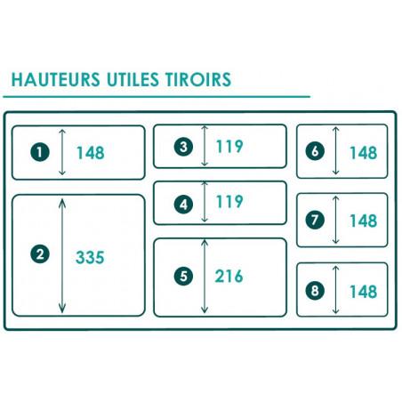 Braveur 614 - 9 Drawers
