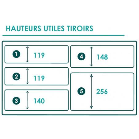 Braveur 614 - 5 Drawers