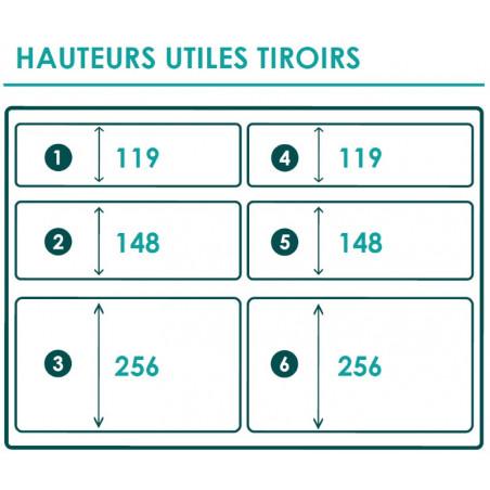 "Braveur 688 - 6 Tiroirs ""Haut"""