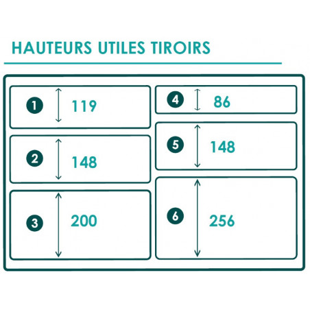 Braveur 636 - 6 Tiroirs