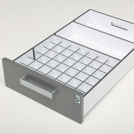 Aménagement intérieur pour ranger des flacons de 50ml - pharmacie vétérinaire Braveur®