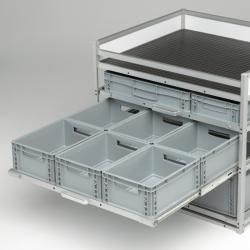 6 Bacs de rangement plastiques - meuble Craft véhicule utilitaire