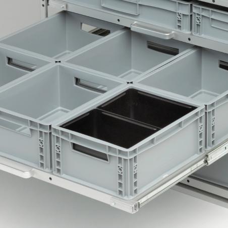 2 bacs pour diviser 1 bac plastique 400x300 - Agencement Craft véhicule utilitaire