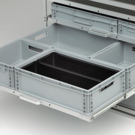 2 bacs pour diviser 1 bac plastique 600x400 - Agencement Craft véhicule utilitaire