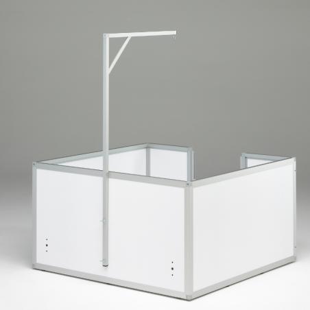 Potence pour accrocher une lampe chauffante au-dessus de sa caisse ou son bac de mise bas.