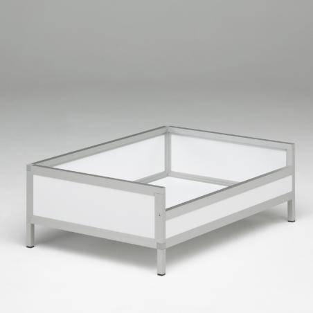 Bac de couchage Braveur® - vue 3/4 - profil aluminium et panneau pvc