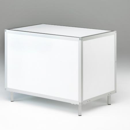 Caisse pour chien Braveur® - vue arrière - en Aluminium et PVC - Pieds 10 cm