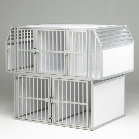 Aménagement pour véhicule utilitaire : 5 caisses de transport pour chien Braveur®