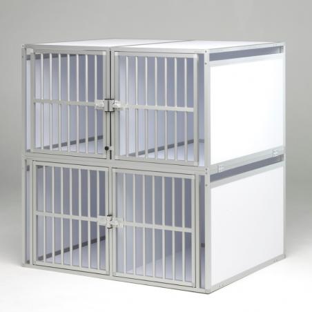 Aménagement arrière simple de 4 caisses de transport pour chiens - Braveur®
