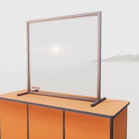 Séparateur de bureau en Plexiglas Braveur® - spécial bureaux & open space