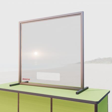 Panneau en plexiglas à fenêtre - protection sanitaire Braveur